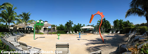 Your kids will be having a great time nearby at the children's waterpark area.
